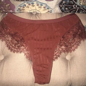 GOOSEBERRY INTIMATES HIGH WAIST LACE THONG